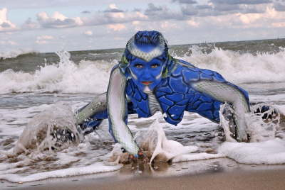 bodypainting am meer
